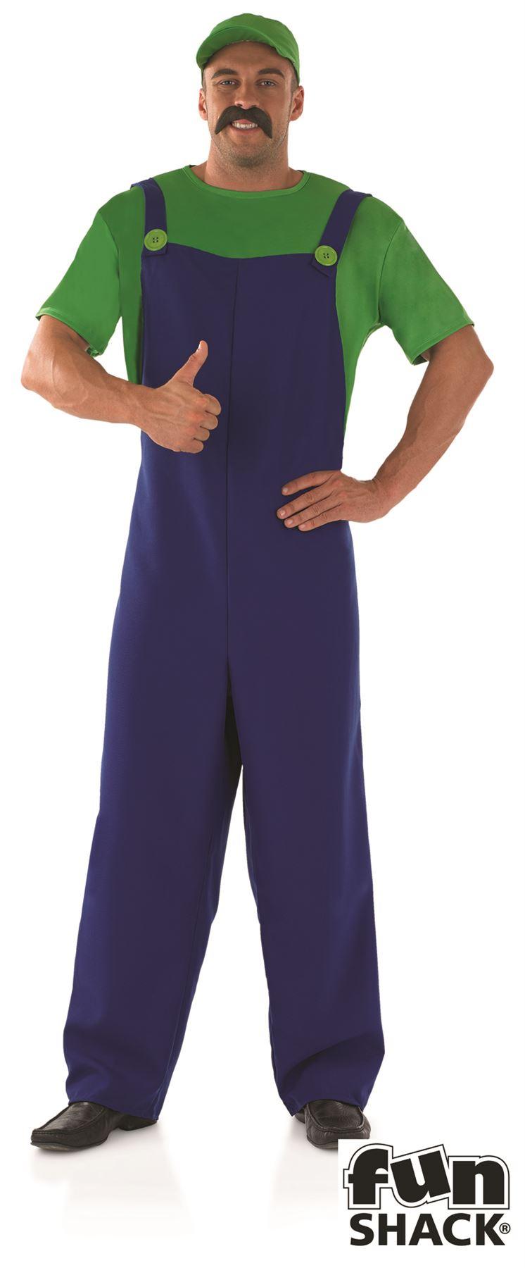 hombre-verde-fontanera-Primer-Oficial-Luigi-ANOS-80-Super-Mario-Disfraz-Adulto