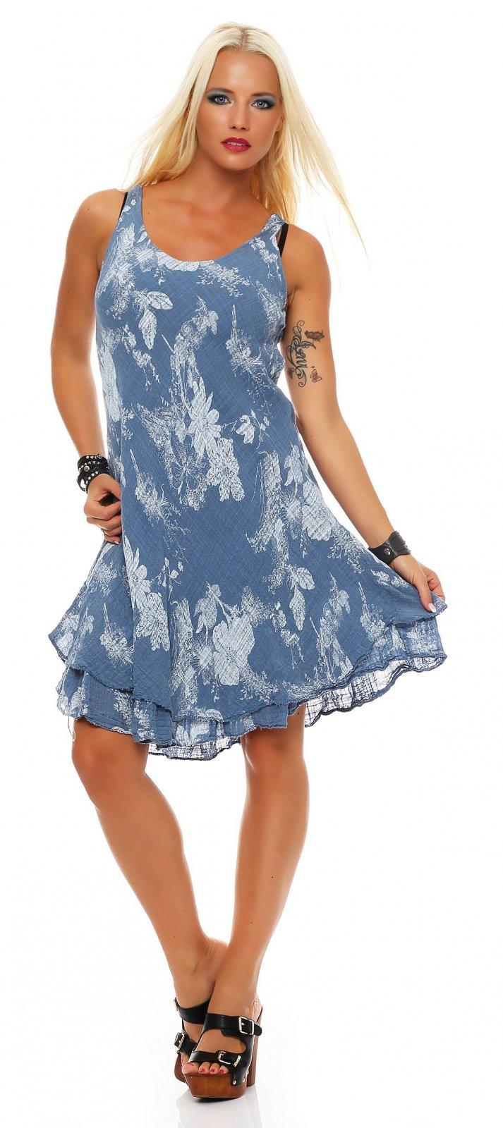 Summer dress knee length double layered Cotton Beach Dress ...