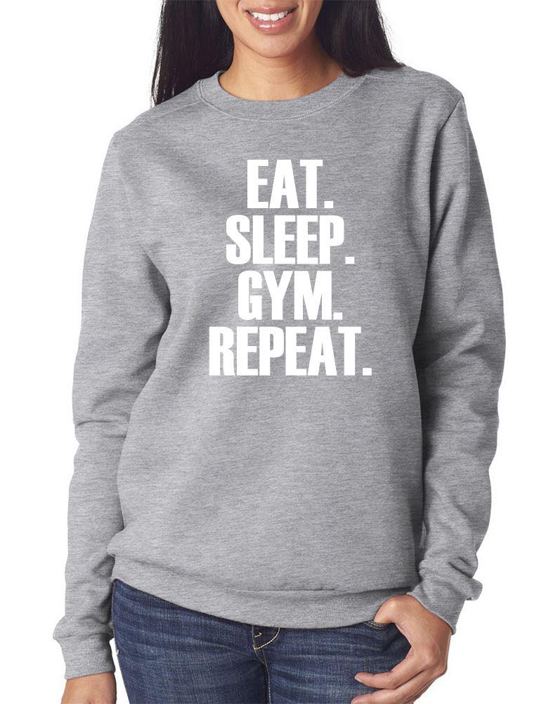 Eat-Sleep-Gimnasio-Repeat-Jersey-Entrenar-Ejercicio-Joven-y-Sudadera-Para-Mujer