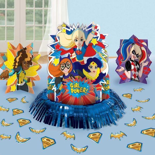 dc girl superhelden aufkleber geschirr ballon partydekorationen ebay. Black Bedroom Furniture Sets. Home Design Ideas