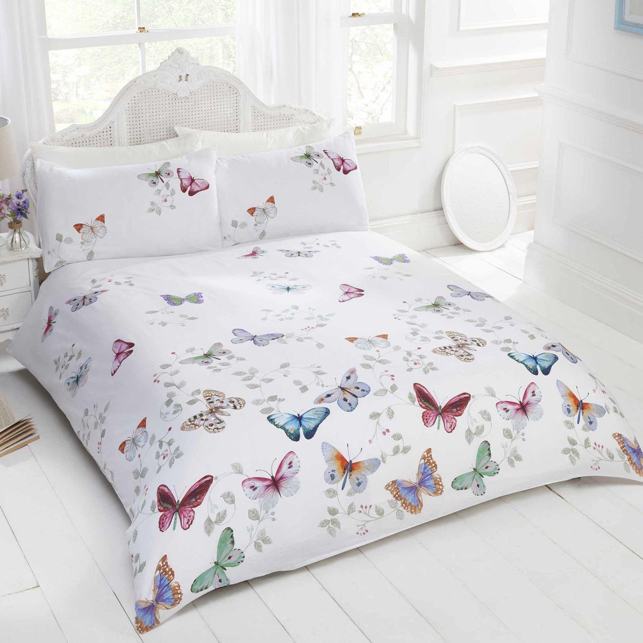 mariposa schmetterling bettbezug set m dchen erwachsene einzeln doppel ebay. Black Bedroom Furniture Sets. Home Design Ideas