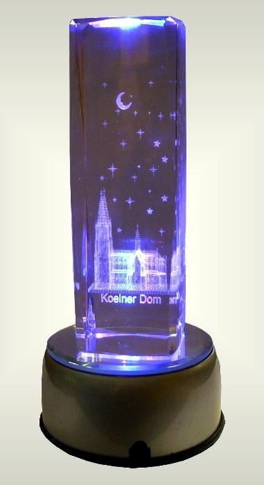 cologne cathedral glass crystal laser gravour led lighted k ln ebay. Black Bedroom Furniture Sets. Home Design Ideas