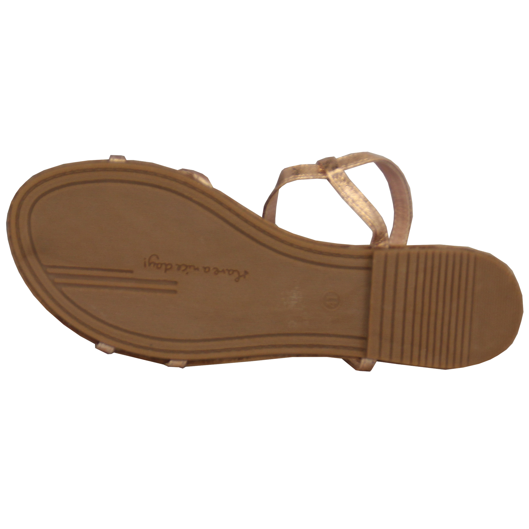 Damen Sandalen Slipper auf flach Open Toe Post Sling Strass Fransen Schuhe