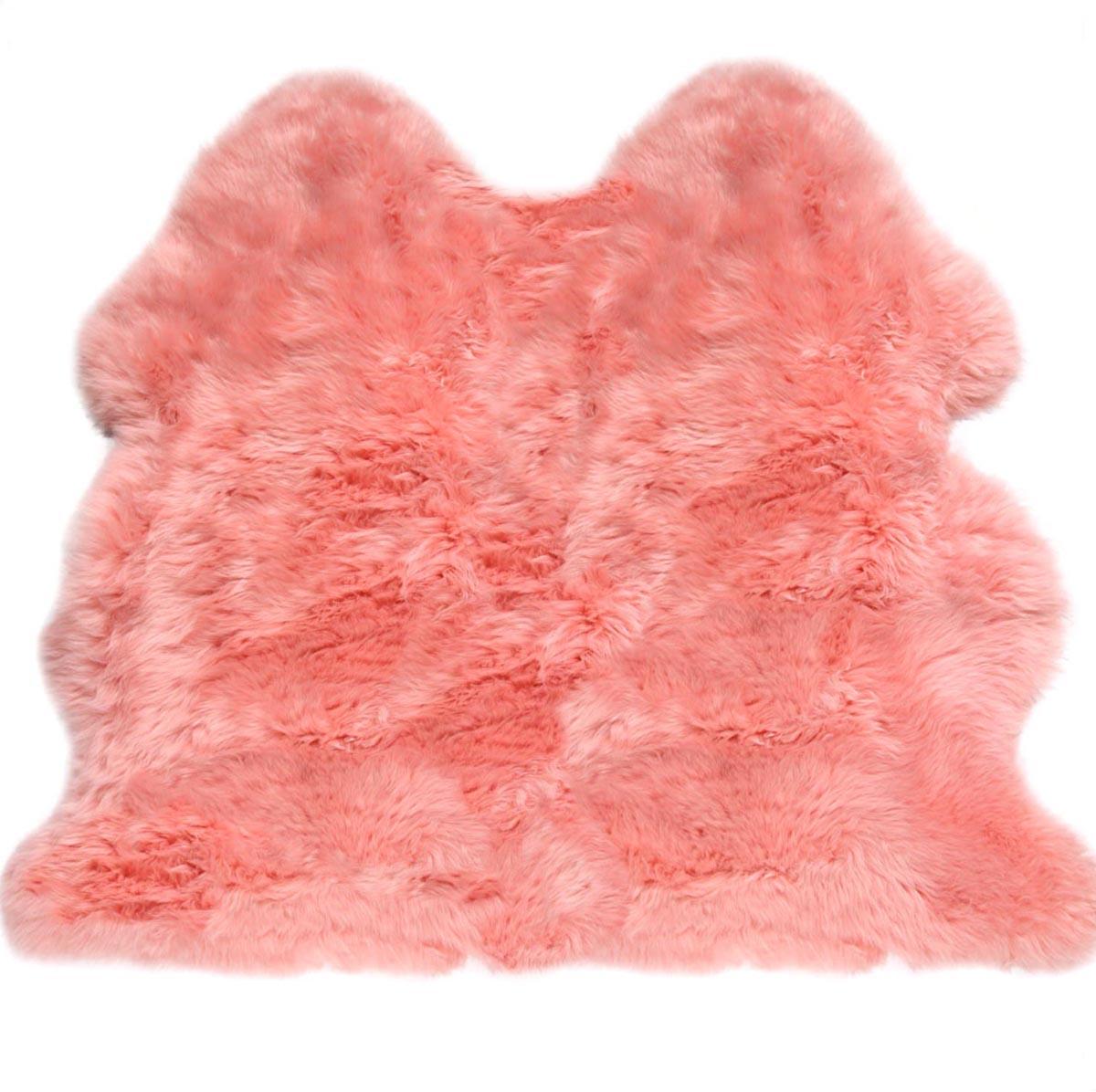 Extra Large Très Doux Luxe Épais Épais Épais Laine Rose Tapis en Peau de Mouton Original | Sale  d724e7