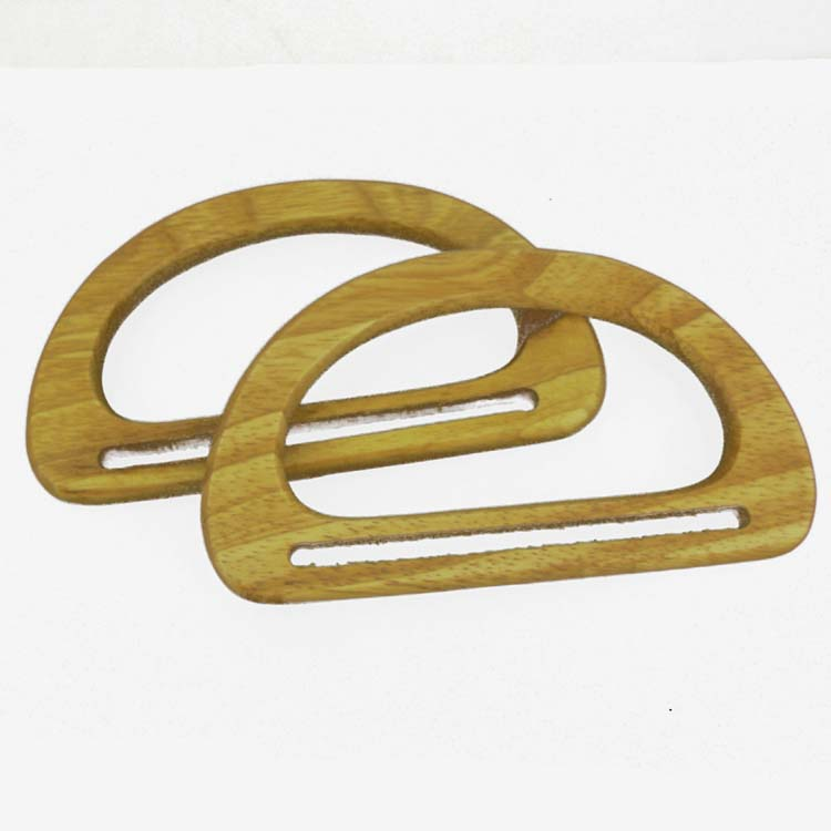 Bag handles small pair of wood wooden d shaped making bags for Handles for bags craft