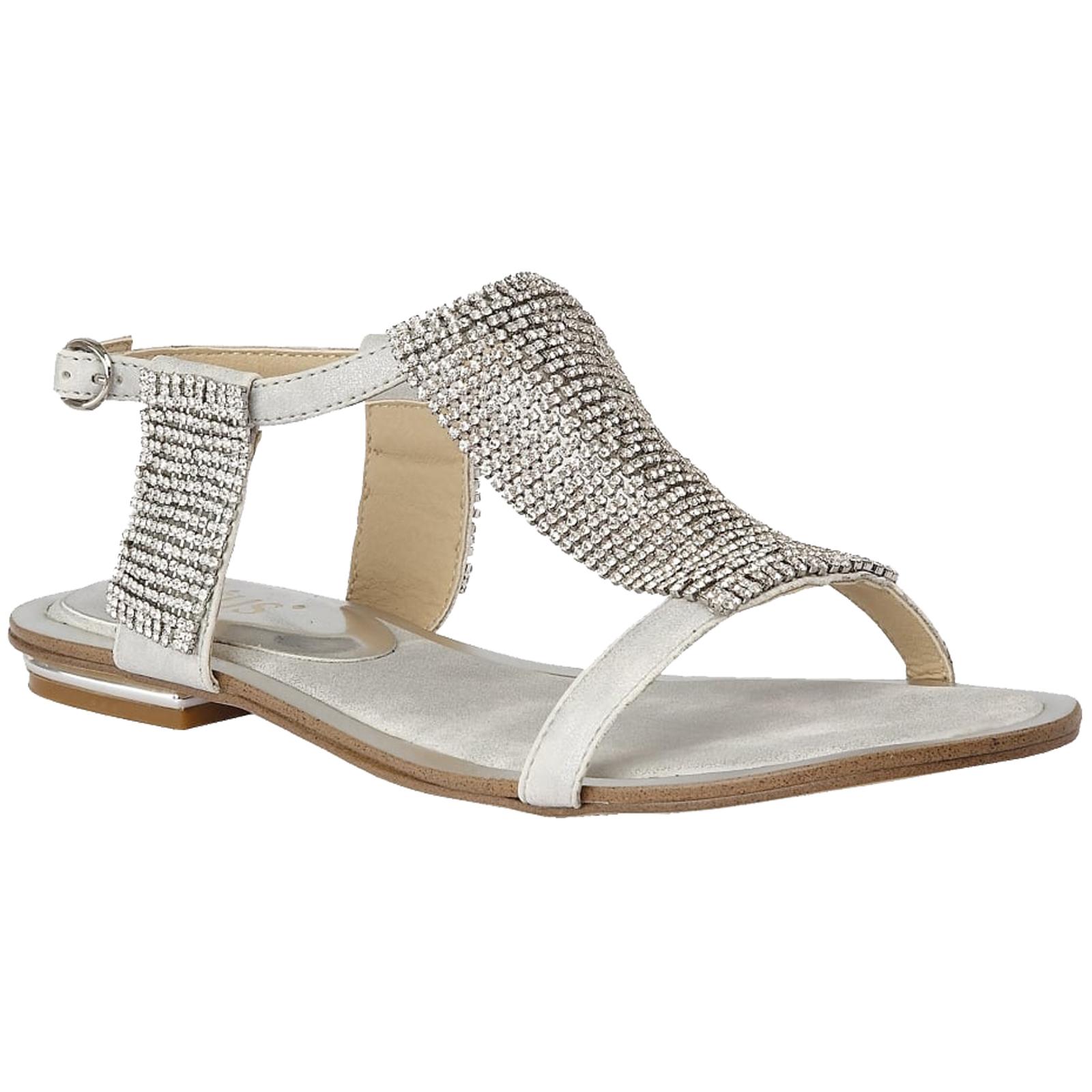 Silver diamante flat sandals original cheap online outlet cost cheap discount sale cheap sale official clearance online cheap real UzuKUC