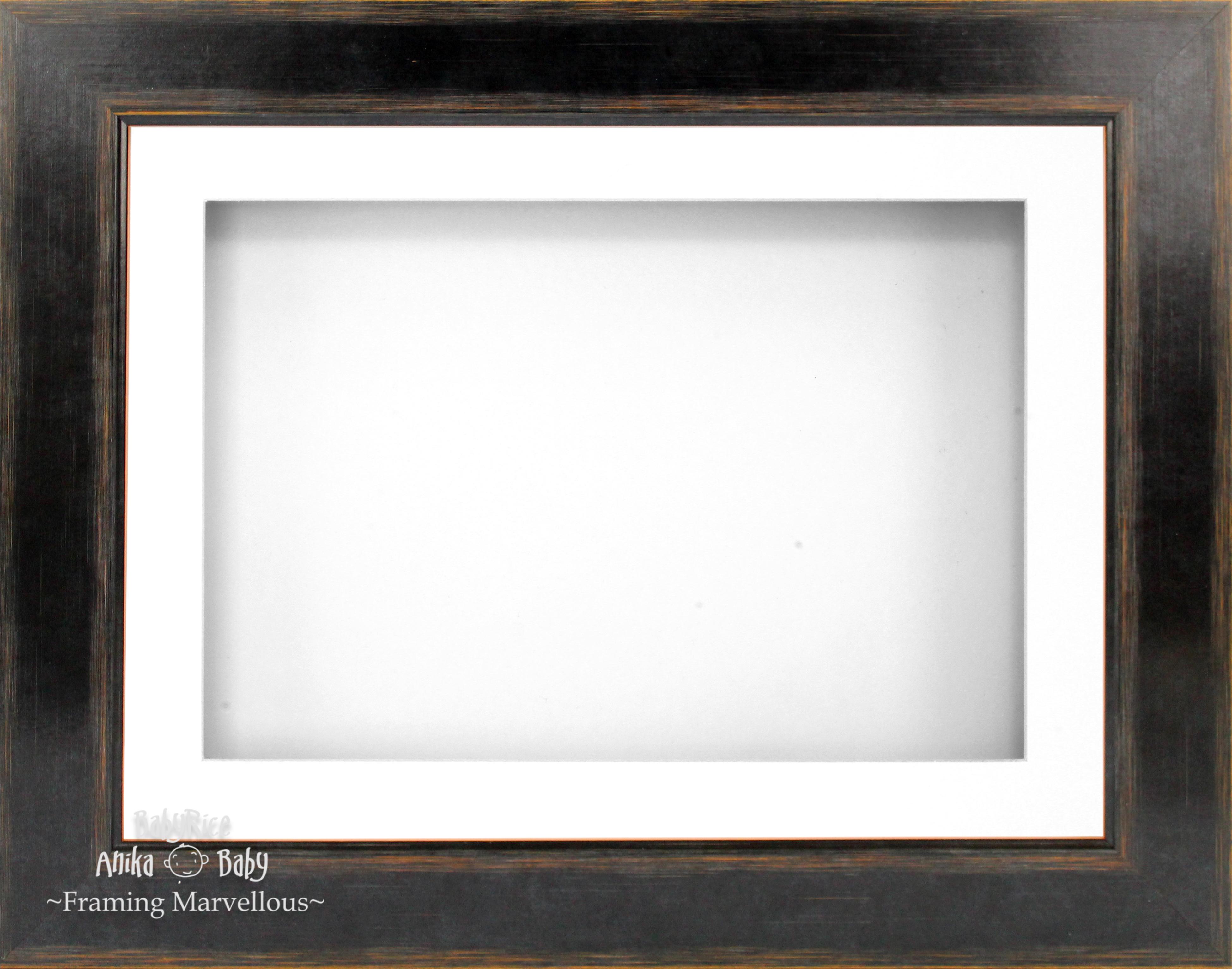 21.6cm X 29.2cm Schwarz Orange Deep Shadow Box Bilderrahmen Display ...