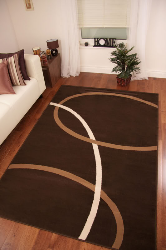Chocolate Brown Long Hall Runner Rugs Modern Plain Swirl Carpet Mats   8  Sizes   EBay