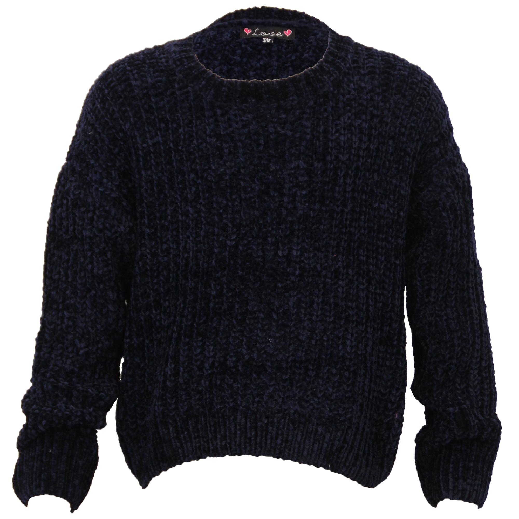 Nina-Cable-Sueter-de-Punto-Infantil-Pulover-Love-Knitwear-Cuello-Redondo