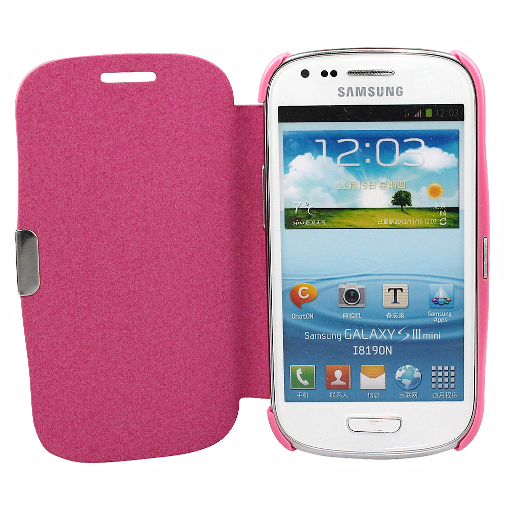 Samsung Galaxy S3 Mini i8190 Flip Case Cell Phone Cover ...