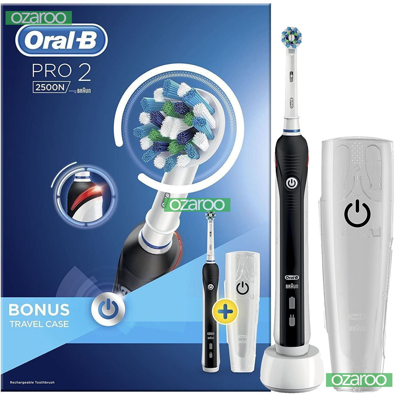 braun oral b pro 2 2500 lectrique rechargeable puissance. Black Bedroom Furniture Sets. Home Design Ideas