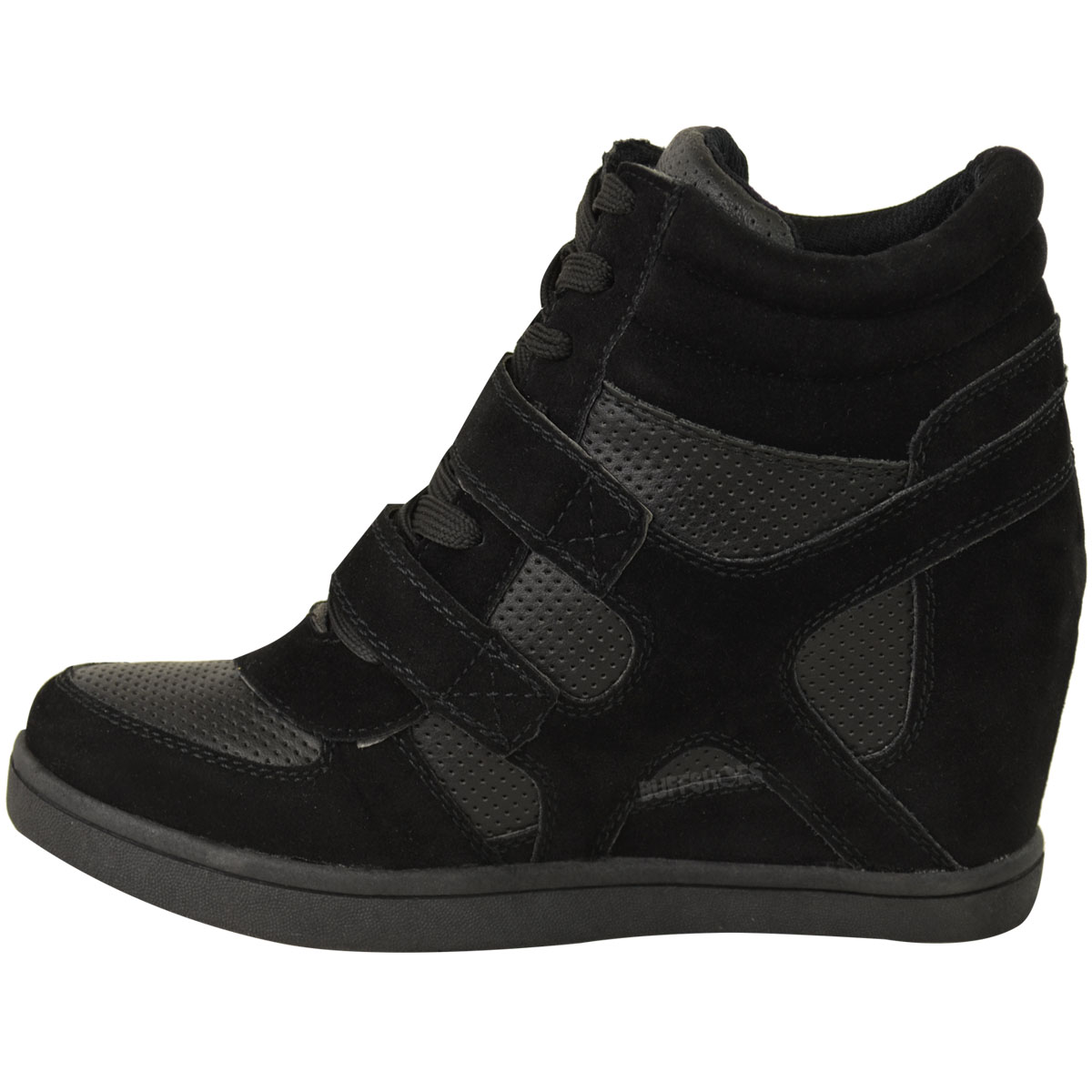 neu damen frauen hi top keilturnschuhe turnschuhe pumps sport ankle boots gr e ebay. Black Bedroom Furniture Sets. Home Design Ideas