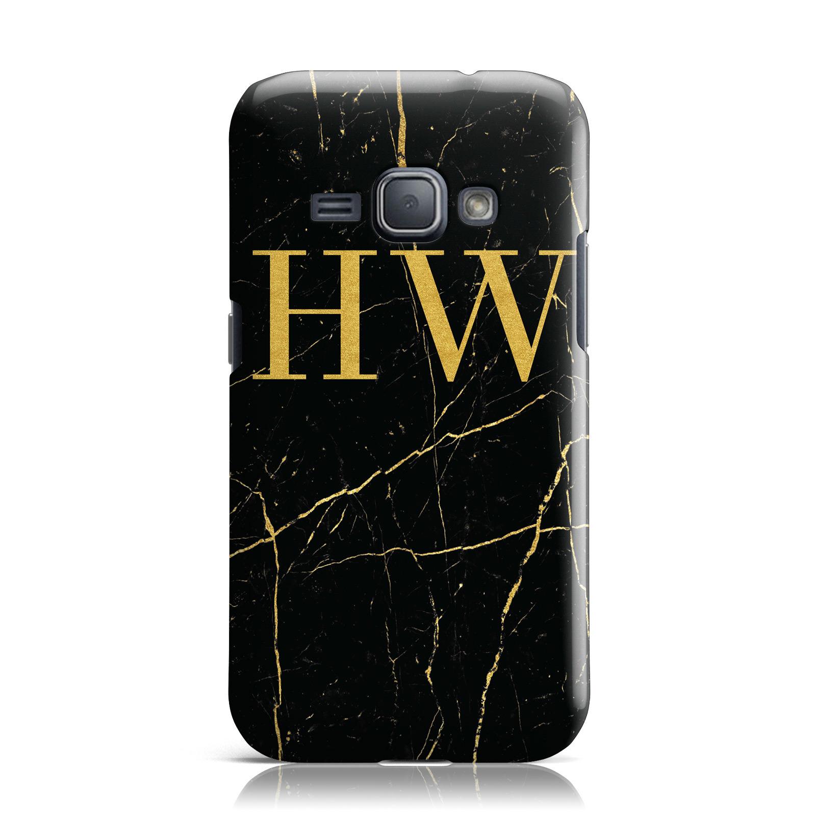 Personalizado-Oro-Marmol-monograma-iniciales-Funda-para-Samsung-Galaxy