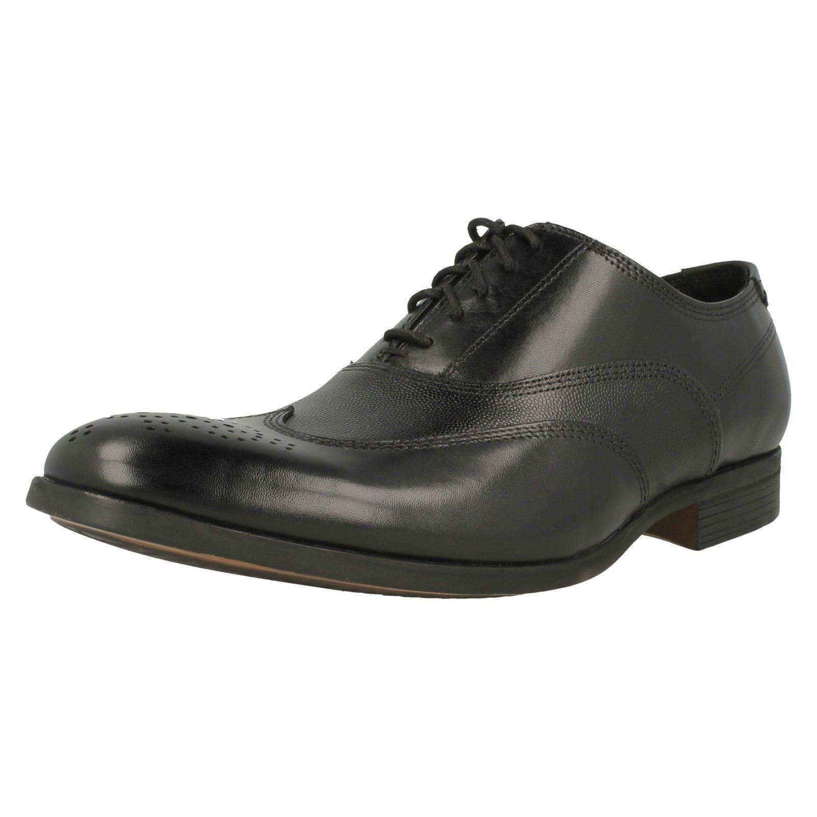 Mens Clarks Gilmore Wing Formal Leather Lace Up Shoes