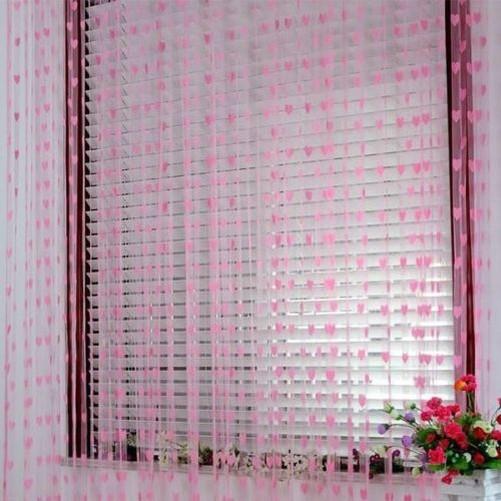 Corde-rideaux-avec-C-urs-Porte-Decorations-Moustiquaire-39-034-100cm-x-201cm