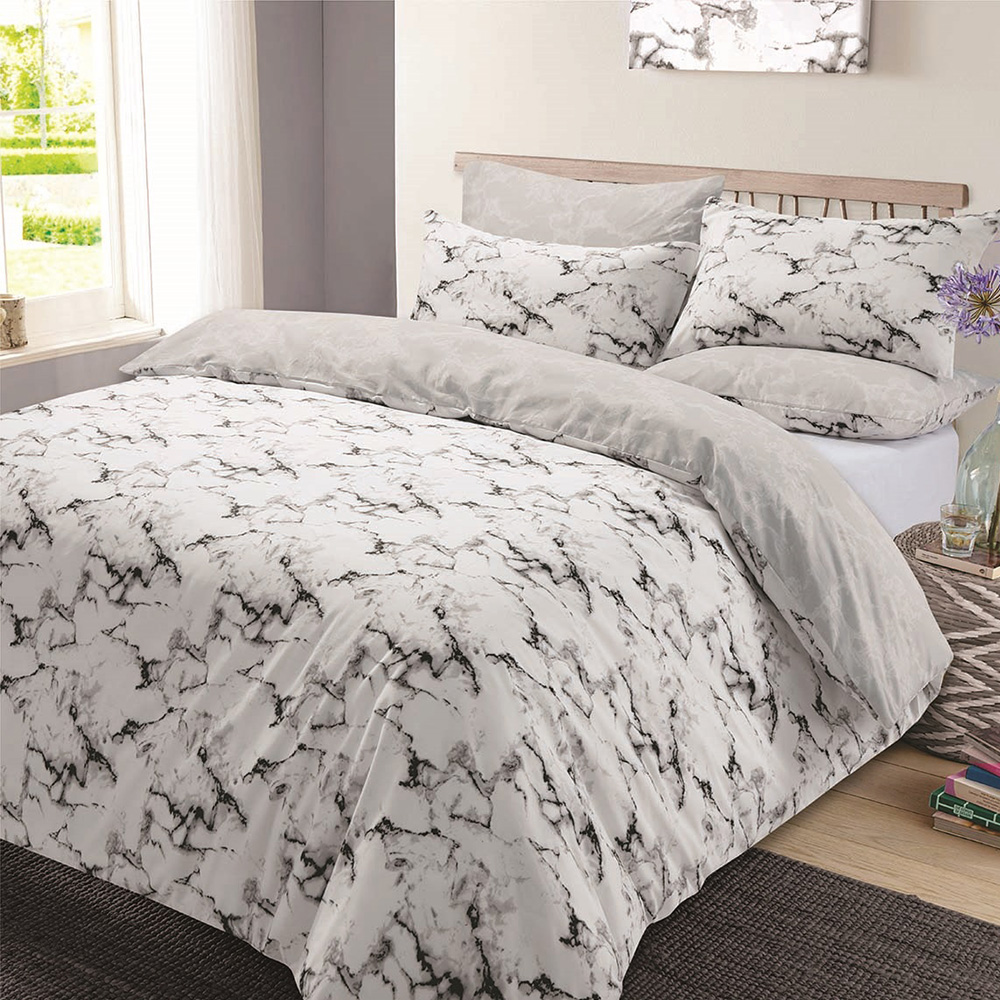 dreamscene marbre housse de couette taie d 39 oreiller ebay. Black Bedroom Furniture Sets. Home Design Ideas
