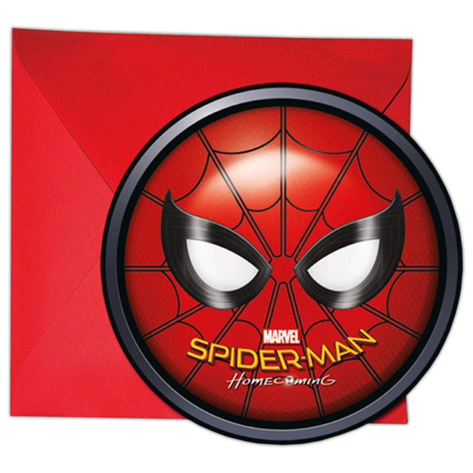 Marvel-Spiderman-Ceremonia-Fiesta-Cumpleanos-Vajilla-Ninos-Decoracion