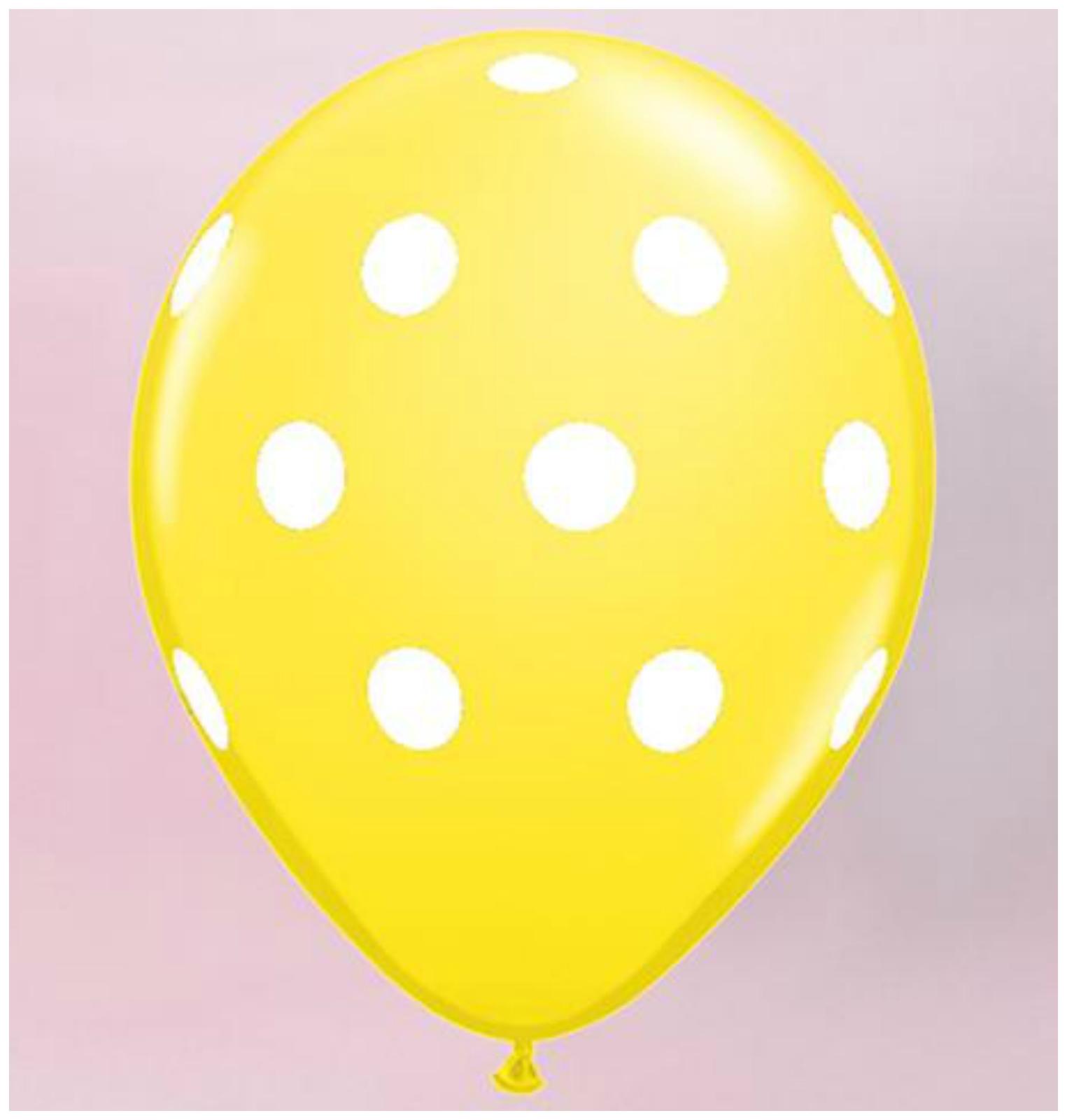 10-POUCE-gt-gt-SC-lt-lt-254cm-30-5cm-a-pois-Ballons-AIR-Helium-Balons-Ruban