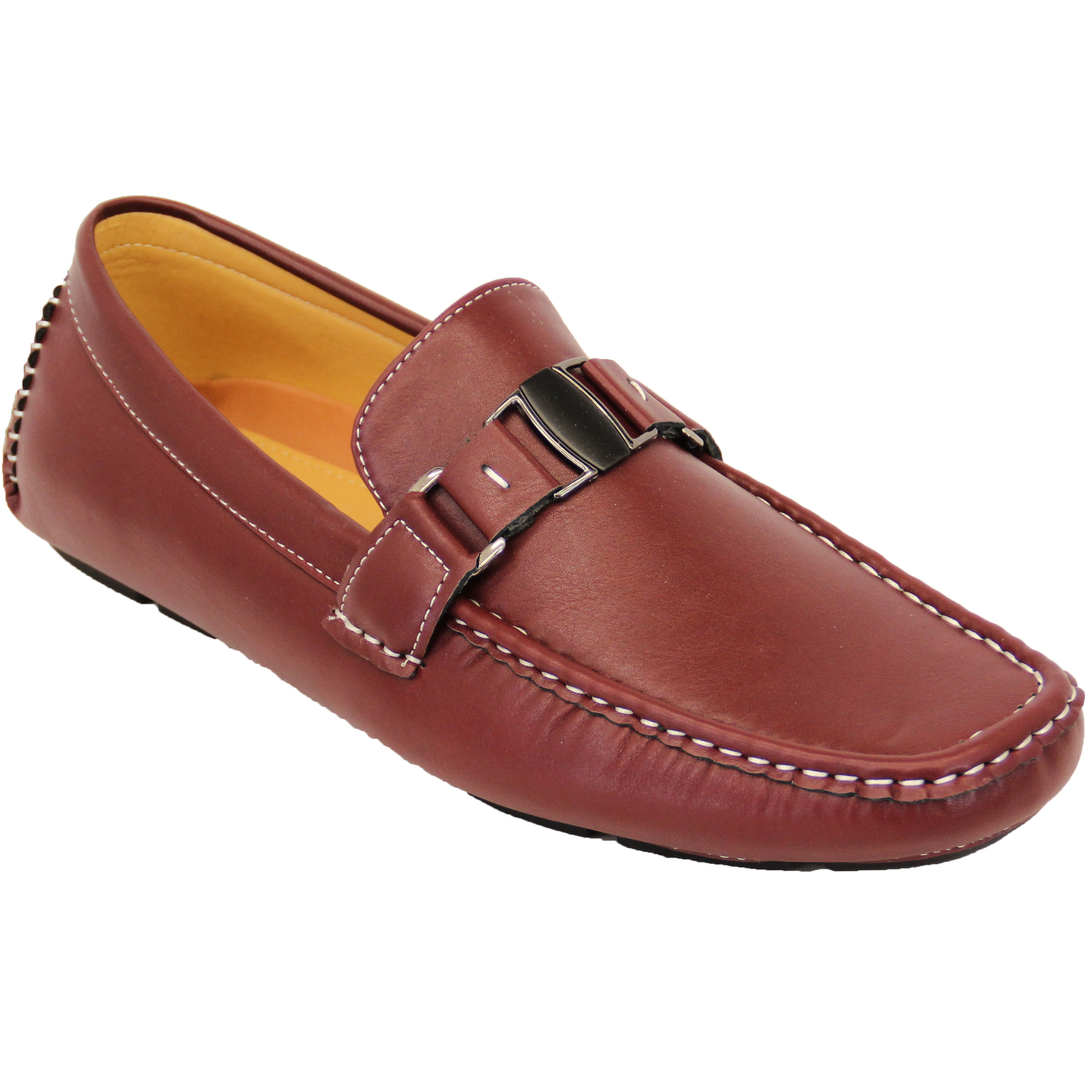 Mens Leather Look Loafers CCC053
