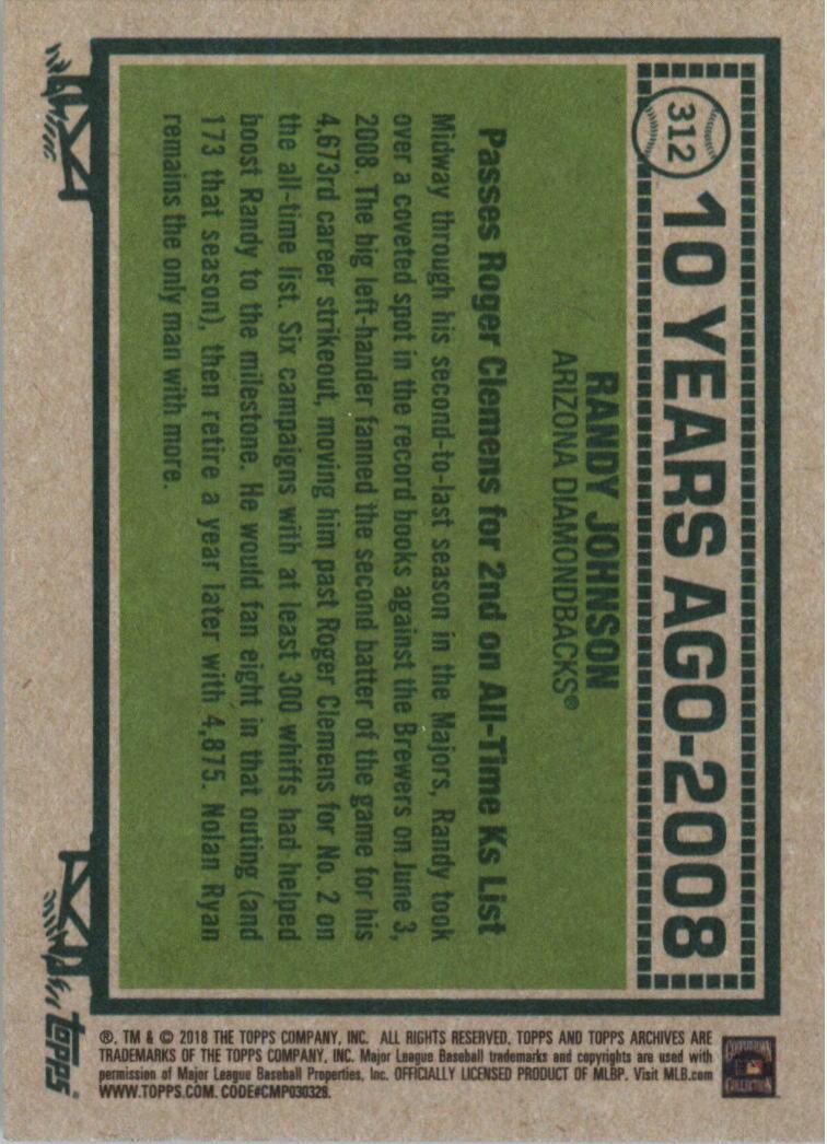 2018-Topps-Archives-Baseball-Carte-Choisissez-251-320 miniature 108