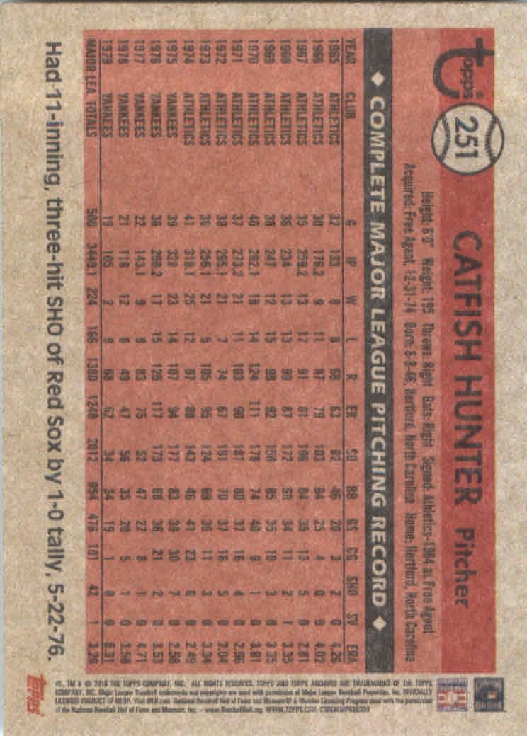 2018-Topps-Archives-Baseball-Carte-Choisissez-251-320 miniature 3