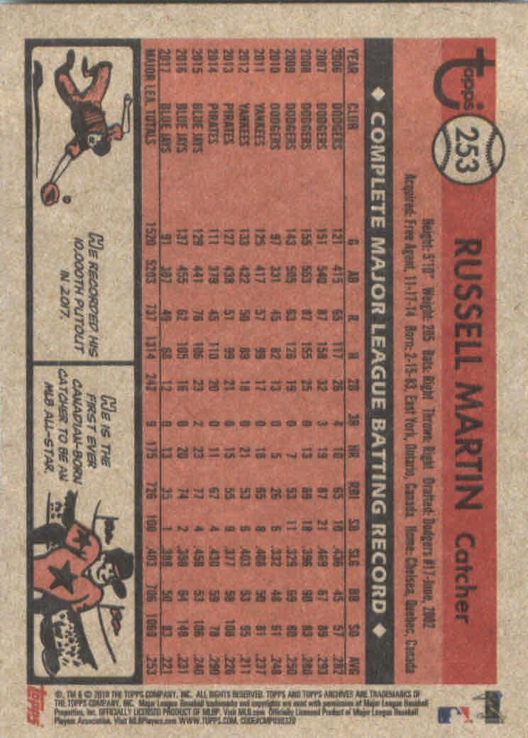 2018-Topps-Archives-Baseball-Carte-Choisissez-251-320 miniature 7