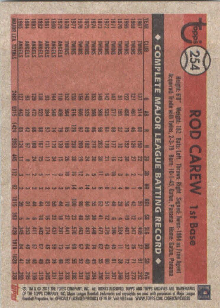 2018-Topps-Archives-Baseball-Carte-Choisissez-251-320 miniature 9
