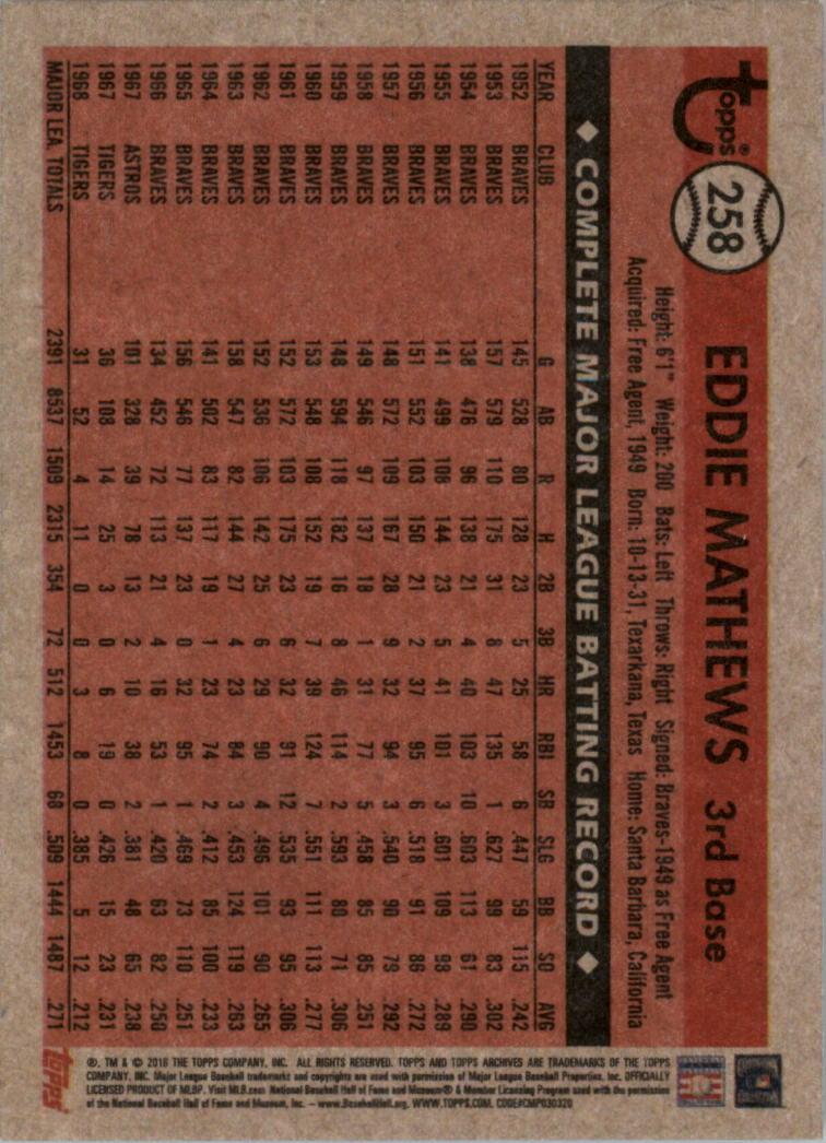 2018-Topps-Archives-Baseball-Carte-Choisissez-251-320 miniature 17