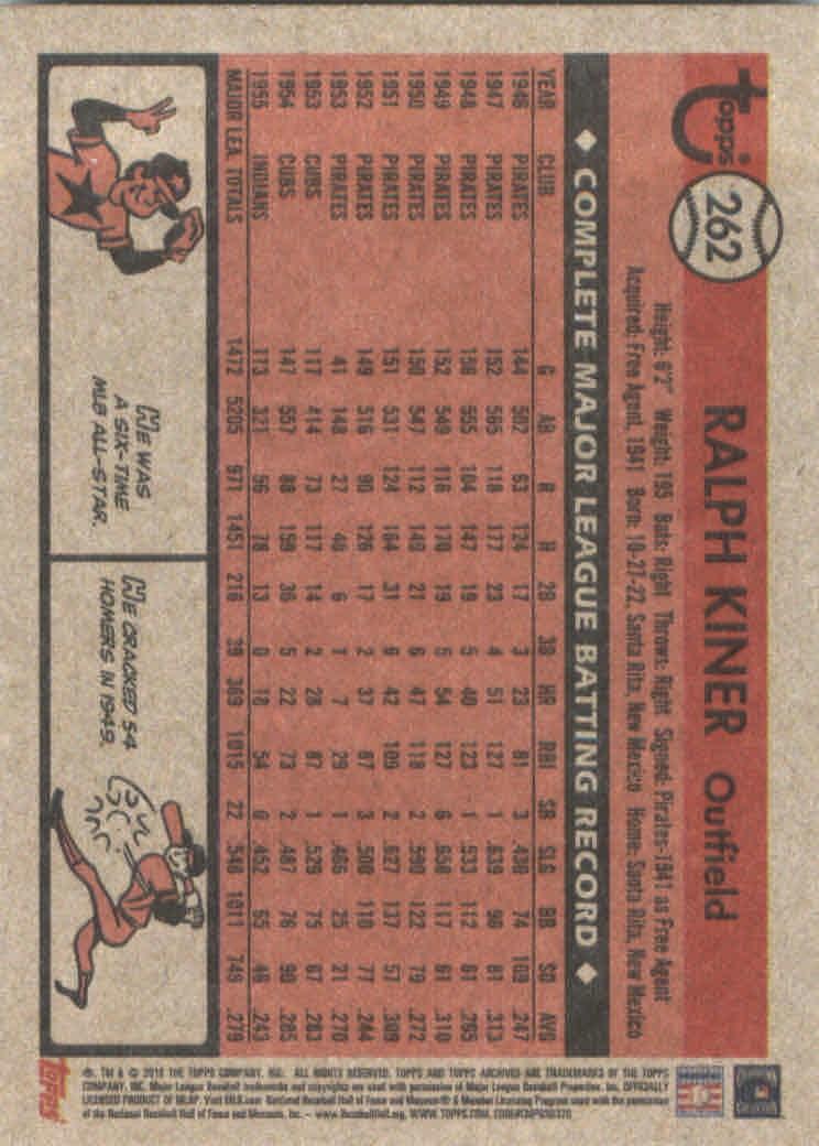 2018-Topps-Archives-Baseball-Carte-Choisissez-251-320 miniature 25