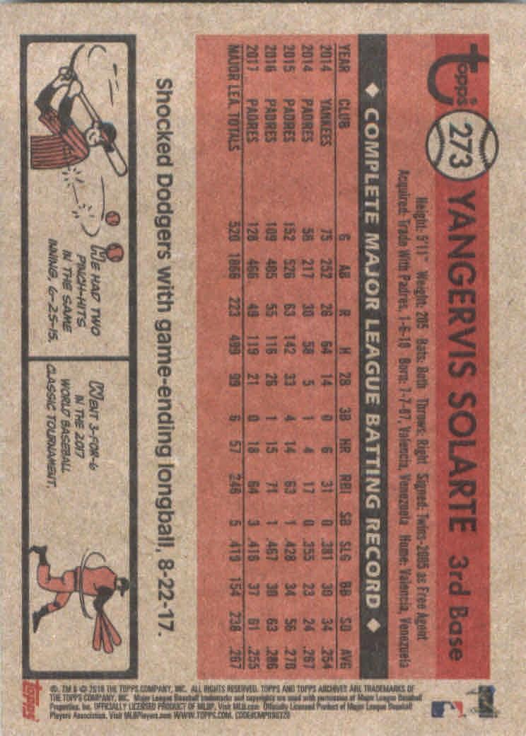 2018-Topps-Archives-Baseball-Carte-Choisissez-251-320 miniature 47