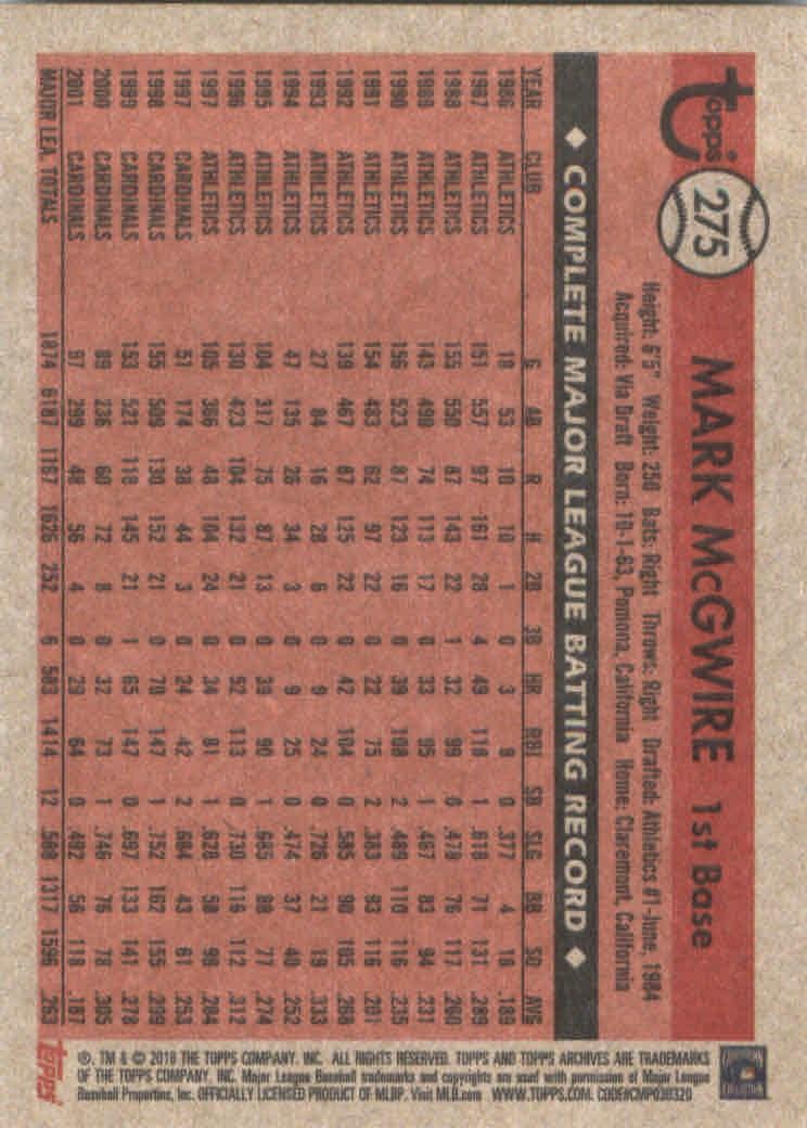 2018-Topps-Archives-Baseball-Carte-Choisissez-251-320 miniature 51