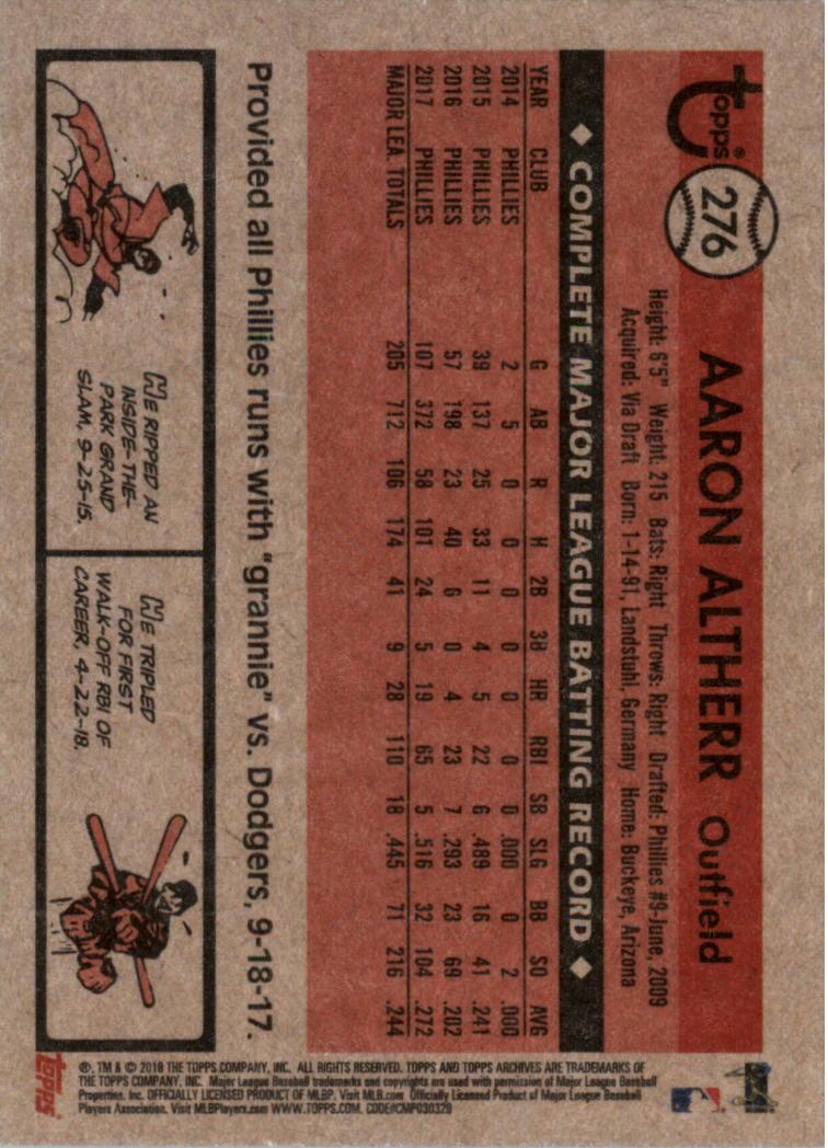 2018-Topps-Archives-Baseball-Carte-Choisissez-251-320 miniature 53