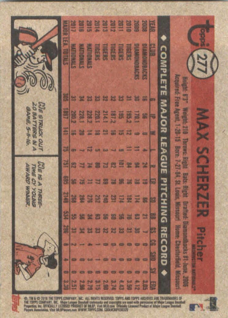 2018-Topps-Archives-Baseball-Carte-Choisissez-251-320 miniature 55