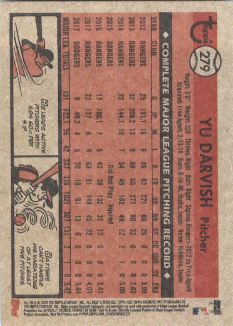 2018-Topps-Archives-Baseball-Carte-Choisissez-251-320 miniature 59