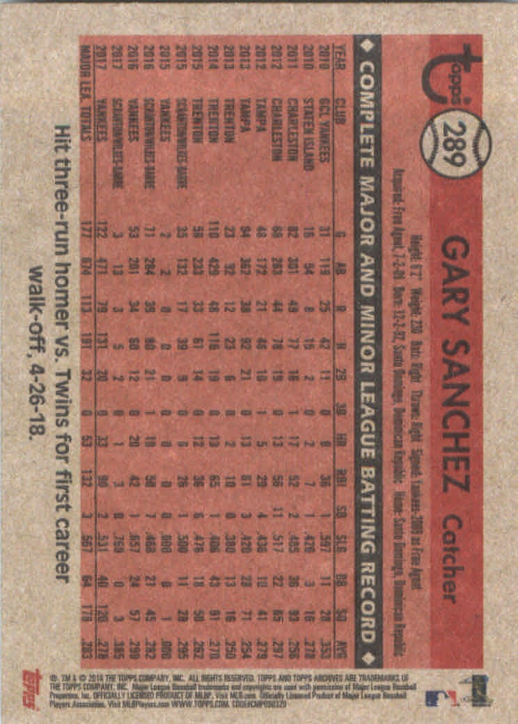 2018-Topps-Archives-Baseball-Carte-Choisissez-251-320 miniature 74