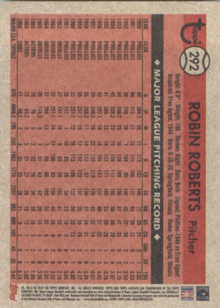 2018-Topps-Archives-Baseball-Carte-Choisissez-251-320 miniature 80