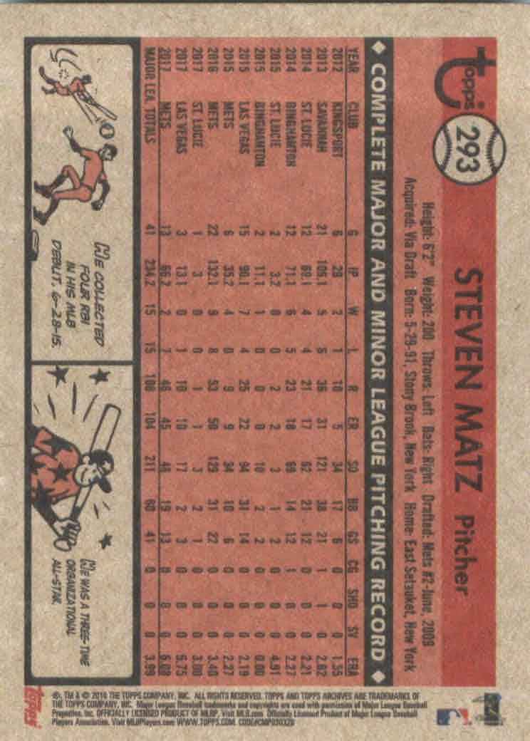 2018-Topps-Archives-Baseball-Carte-Choisissez-251-320 miniature 82