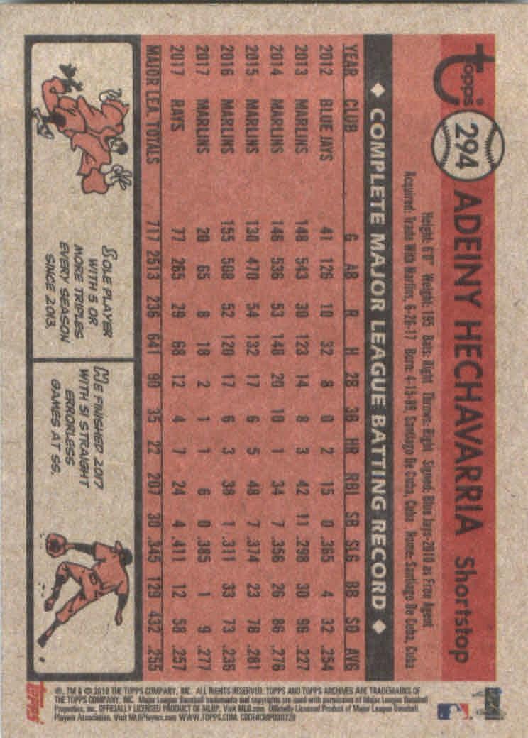 2018-Topps-Archives-Baseball-Carte-Choisissez-251-320 miniature 84