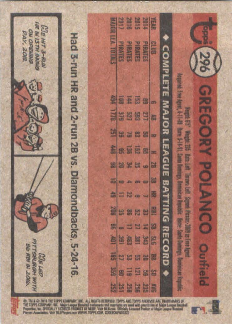 2018-Topps-Archives-Baseball-Carte-Choisissez-251-320 miniature 88