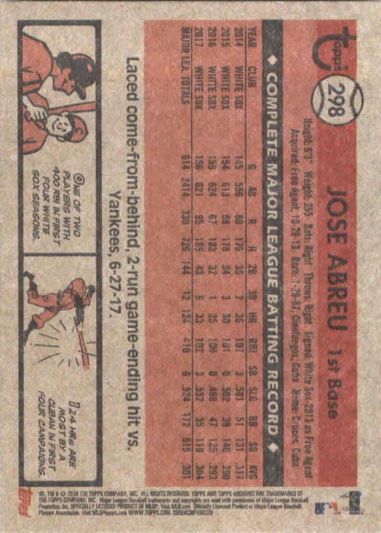 2018-Topps-Archives-Baseball-Carte-Choisissez-251-320 miniature 92