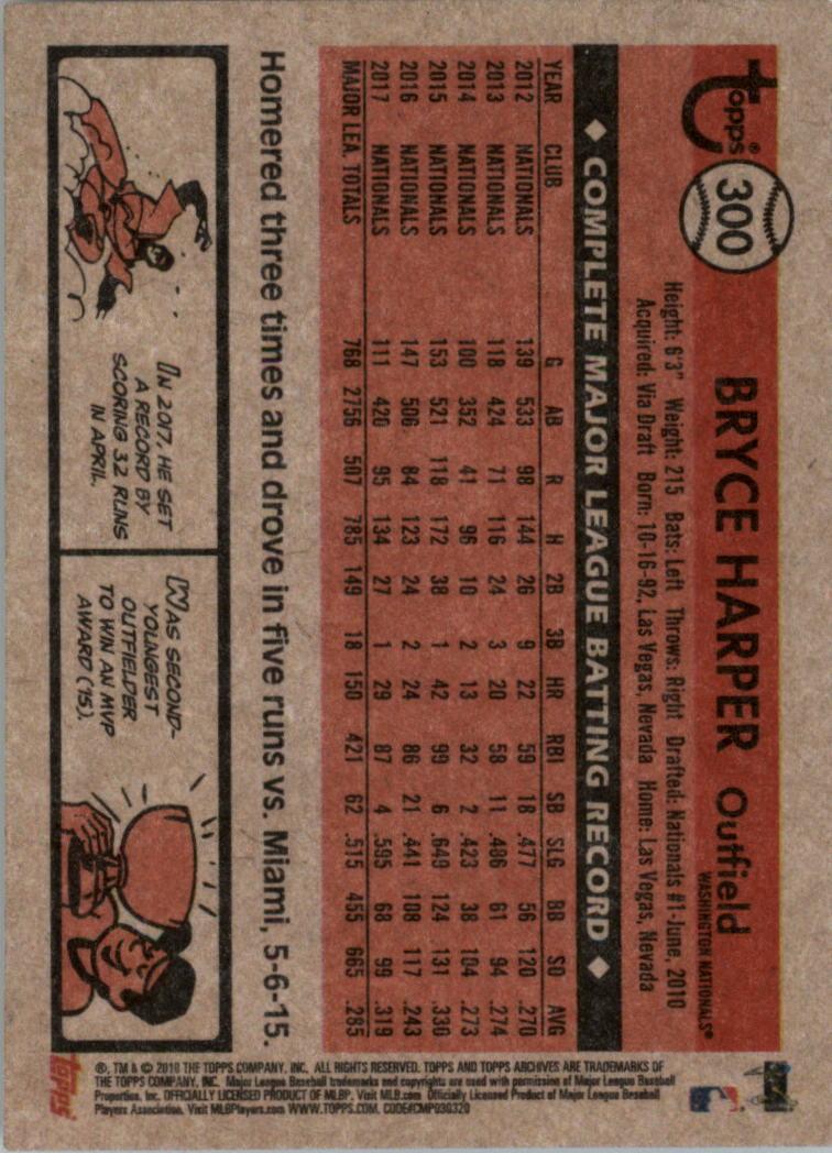 2018-Topps-Archives-Baseball-Carte-Choisissez-251-320 miniature 96