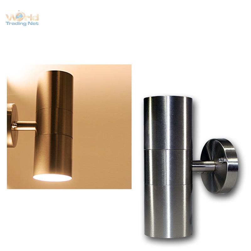 LED-Wandleuchte-Edelstahl-Aussenleuchte-Aussenwandleuchte-Wandlampe-230V-Leuchte