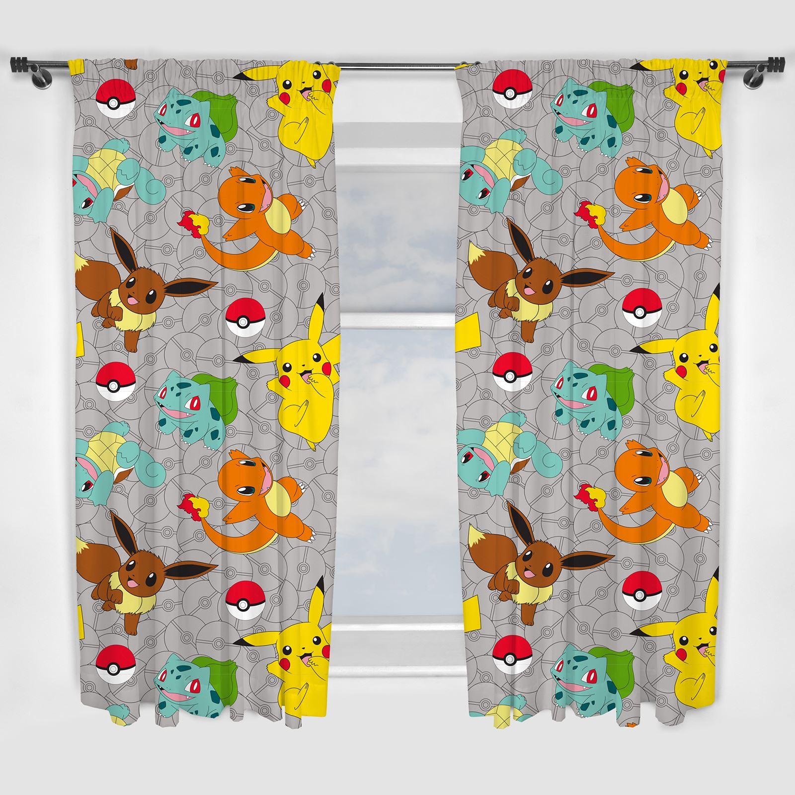 Disney & Character Jungen Vorhänge Schlafzimmer Marvel Paw Patrol Pokemon Thomas Pokemon Fang 137cm