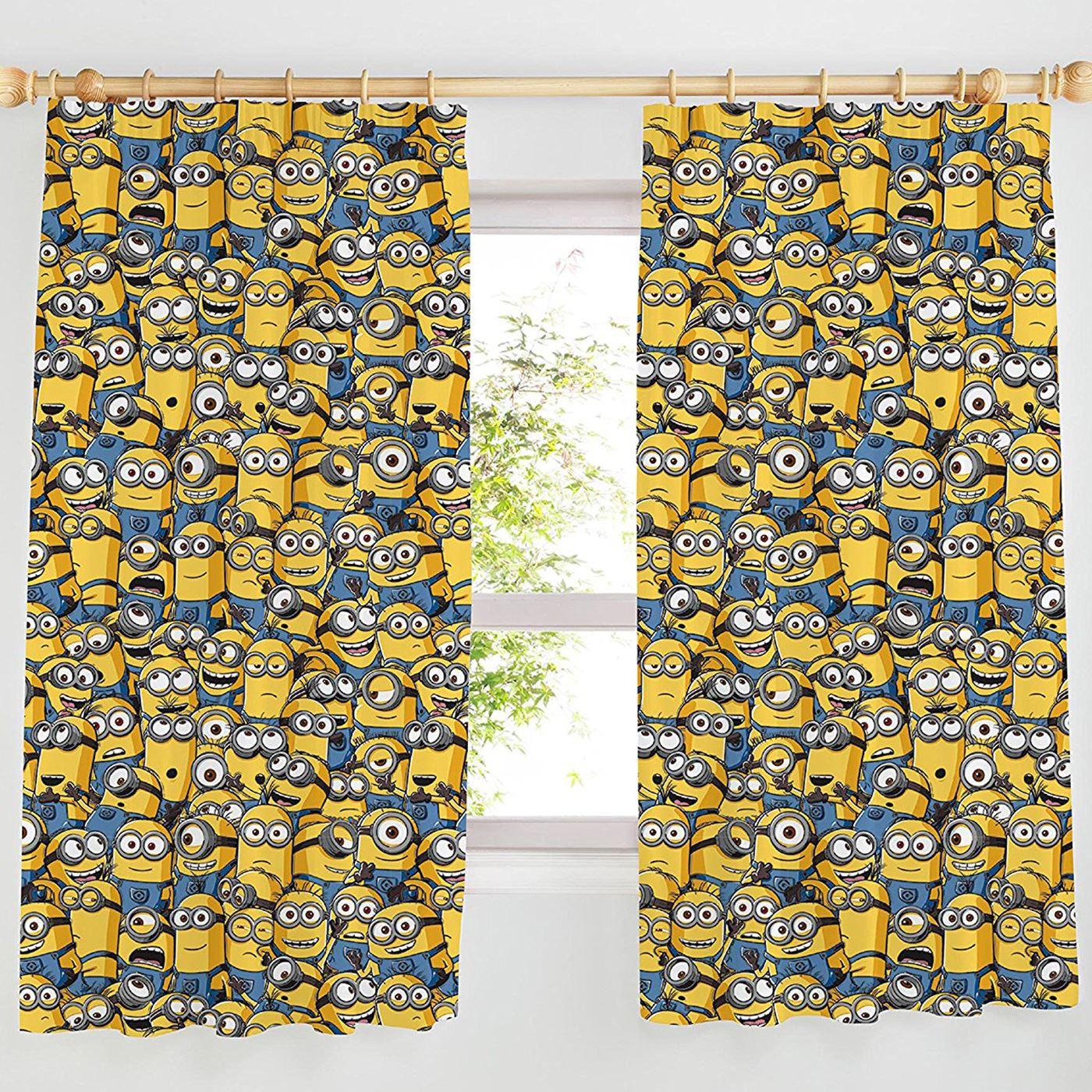 Disney & Character Jungen Vorhänge Schlafzimmer Marvel Paw Patrol Pokemon Thomas Ich – Einfach Unverbesserlich Minions 137cm