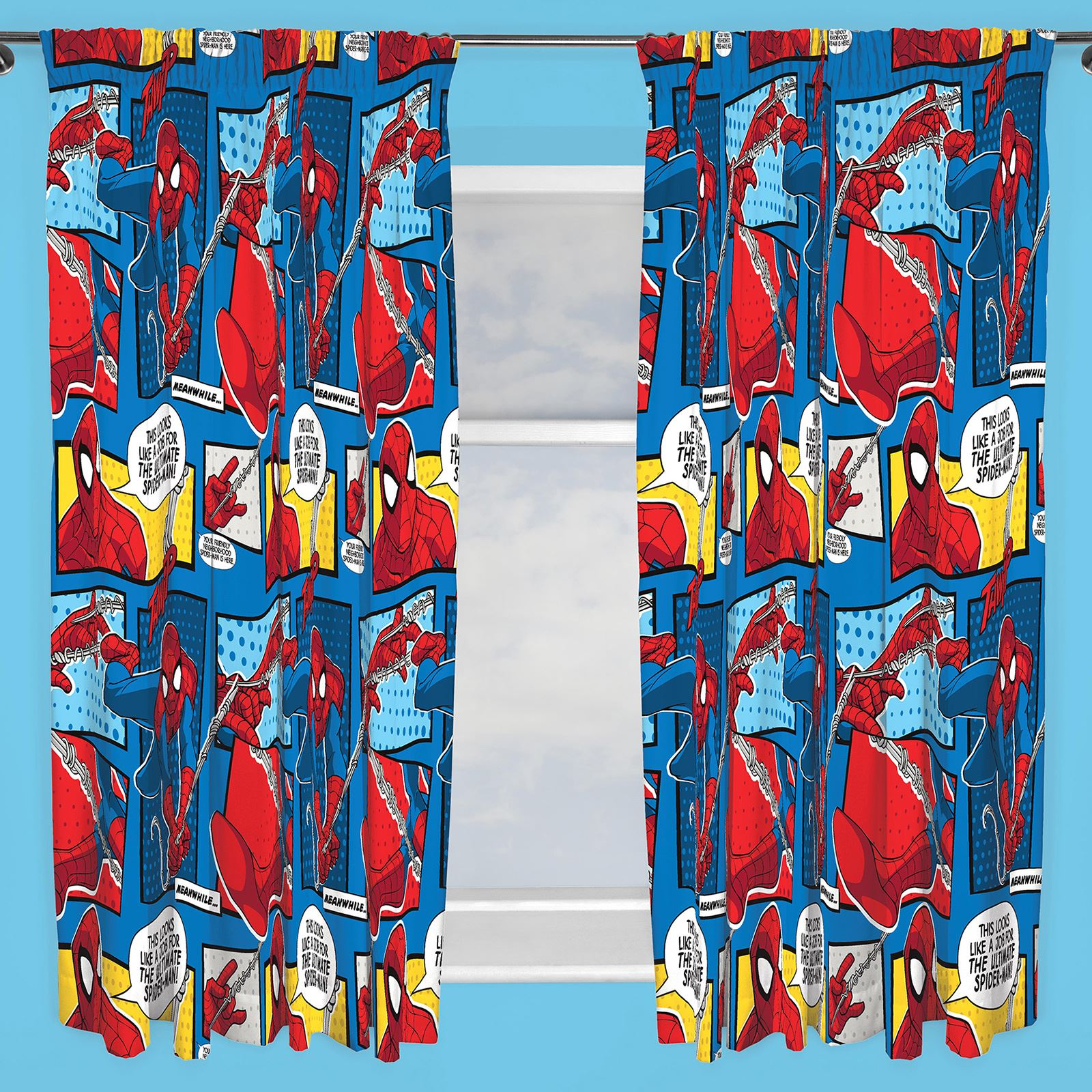 disney character boys curtains bedroom marvel paw patrol pokemon thomas more ebay. Black Bedroom Furniture Sets. Home Design Ideas