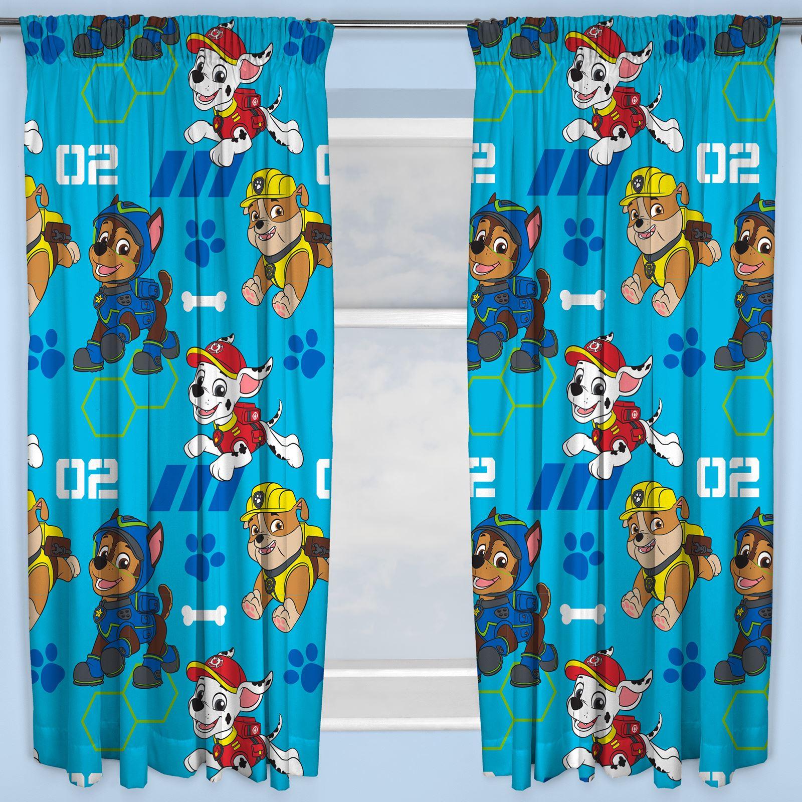 Disney & Character Jungen Vorhänge Schlafzimmer Marvel Paw Patrol Pokemon Thomas Paw Patrol Spion 137cm