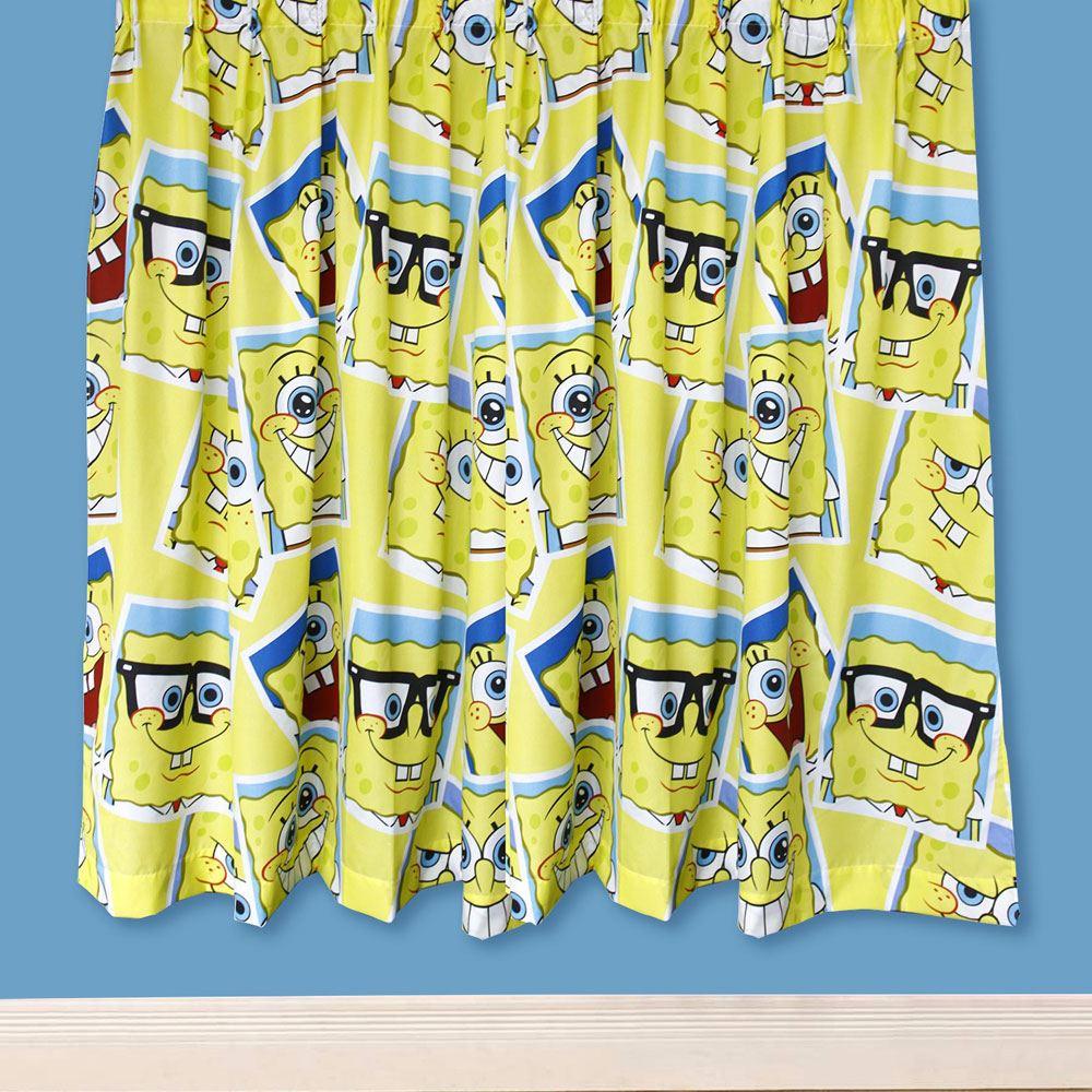 Disney & Character Jungen Vorhänge Schlafzimmer Marvel Paw Patrol Pokemon Thomas Spongebob Gerahmt 183cm