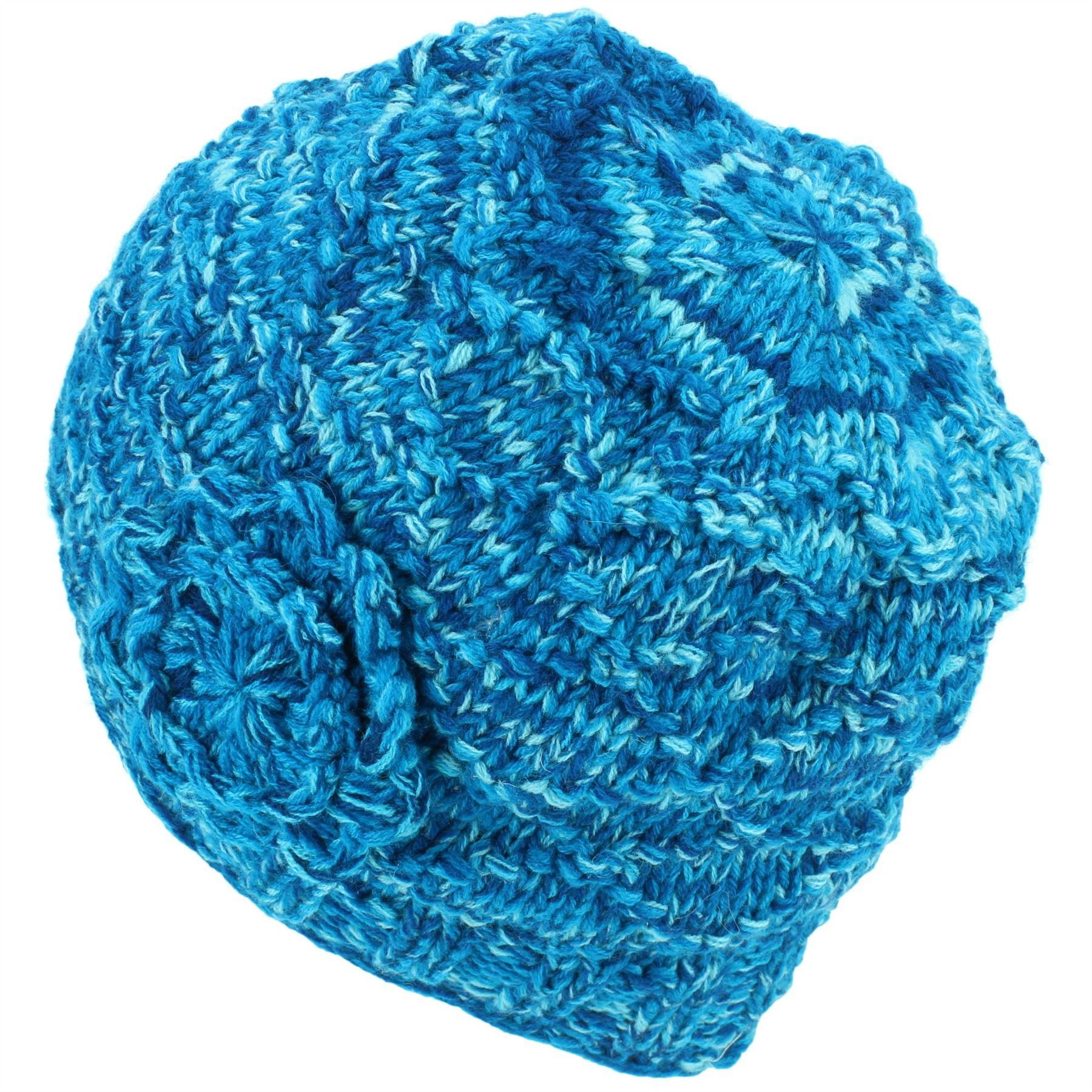 7ad78bb94dd Beanie Hat Cap Warm Winter Flower Soft Lined LoudElephant Acrylic ...