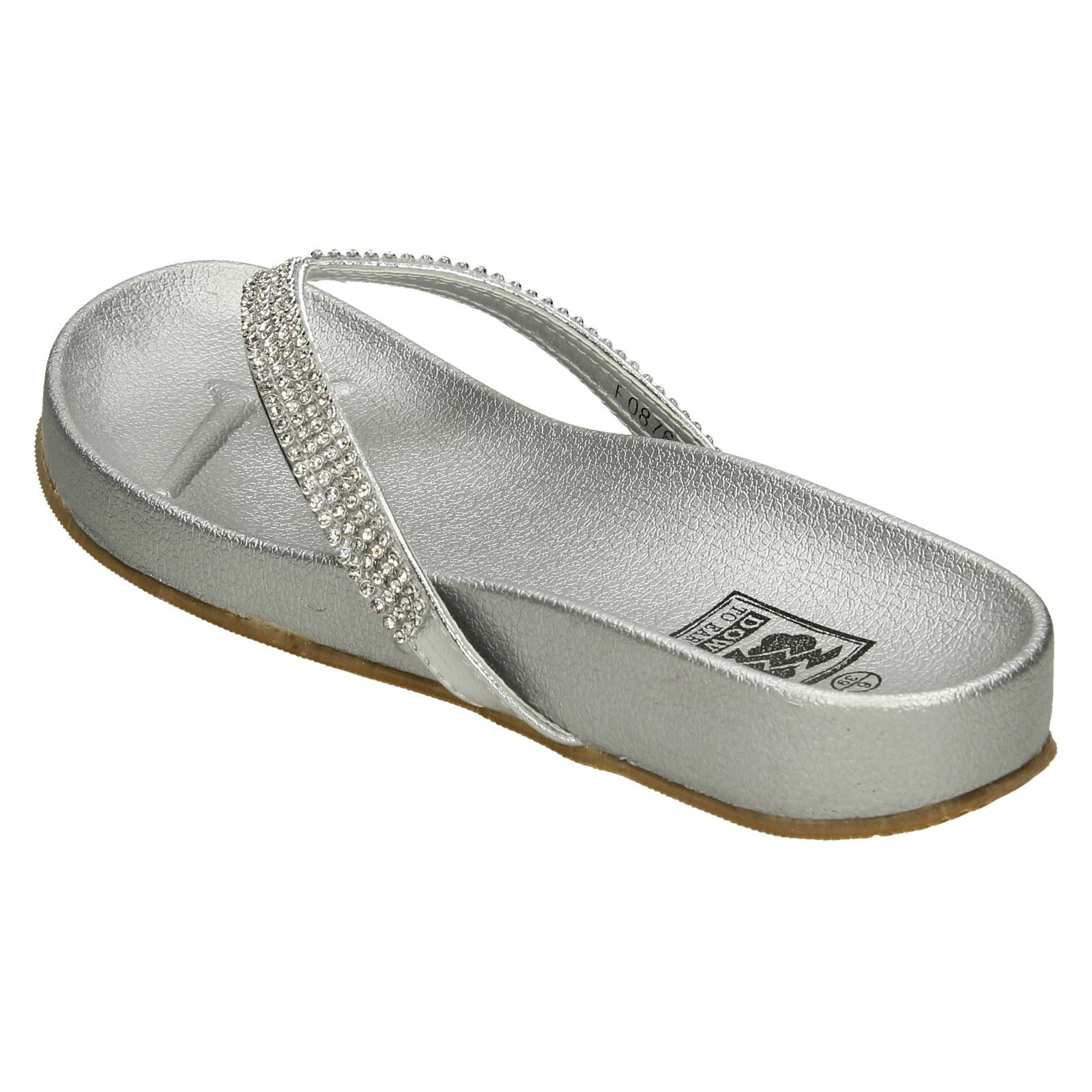Ladies Down to Earth Slip On Toe Post Synthetic Sandals F0R879