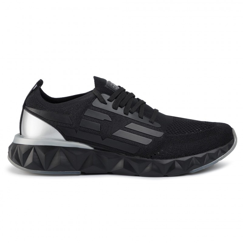 miniature 14 - EA7 Baskets Emporio Armani Homme X8X048 XK113 2020 Chaussures Noir Tissu